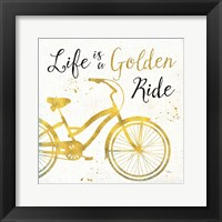 Framed Golden Ride I