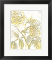 Belle Fleur Yellow I Crop Framed Print