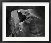 Framed Upper Antelope Canyon (Black & White)