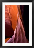 Framed Upper Antelope Canyon, Eroded Sandstone