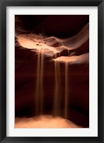 Framed Sand Flowing in Antelope Canyon, Arizona