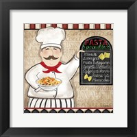 Pasta Chef Framed Print