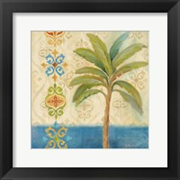 Ikat Palm I Framed Print