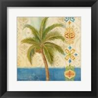 Ikat Palm II Framed Print