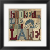 Lake Living Printer Blocks I Framed Print