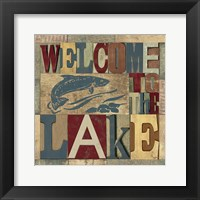 Lake Living Printer Blocks IV Framed Print