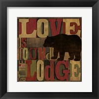 At the Lodge Printer Blocks II Framed Print