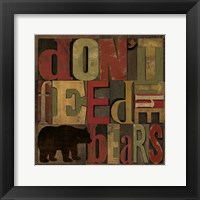 At the Lodge Printer Blocks III Framed Print