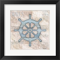 Driftwood Beach Icons VI Framed Print