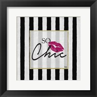 So Chic I Framed Print