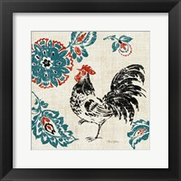 Toile Rooster II Framed Print