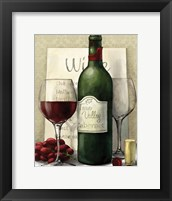 Valley Wine I Framed Print