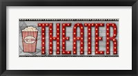 Movie Marquee Panel II (Theater) Framed Print