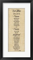Bible Verse Panel III (Our Father) Framed Print
