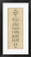 Framed Bible Verse Panel IV (Instrument of Peace)