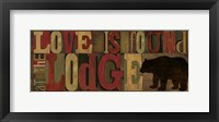 Love at the Lodge Panel Framed Print