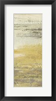 Siena Abstract Yellow Gray Panel I Framed Print
