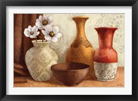 Gentle Spice Vessels Framed Print