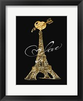 Framed Parisian Golden Love