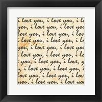 Love Envelope Framed Print