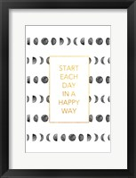 Happy Way Framed Print