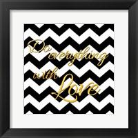 Golden Love Framed Print