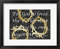 God Love Framed Print