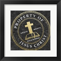 Property Of Jesus Christ Framed Print