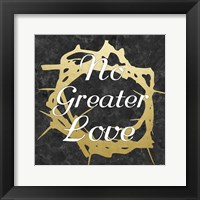 No Greater Love 2 Framed Print
