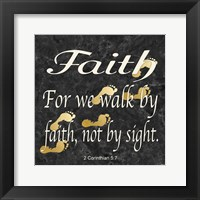 Faith Walk Framed Print