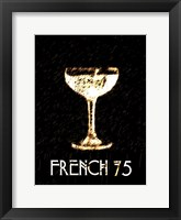 Framed Vintage French 75