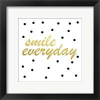 Smile Everyday Framed Print