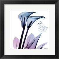 Framed Calla Lily Purp I