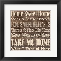 Framed Home Sweet Home 3