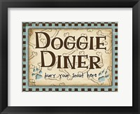 Framed Doggie Diner Blue