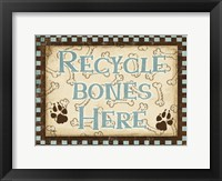 Framed Recycle Bones Blue