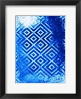 Framed Bright Blue Patterns