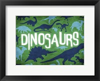 Framed Dinosaurs Two
