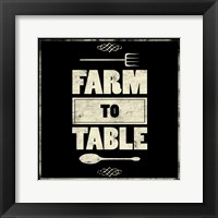 Framed Farm To Table