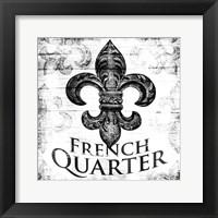 Framed French Quarters BW