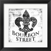 Framed Bourbon Street BW