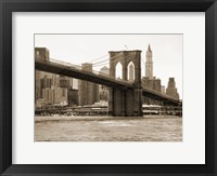Framed Brooklyn Bridge 47 II