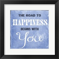 Framed Road to Happiness