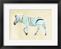 Framed Zebra Teal Greens