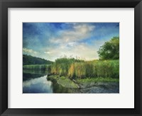 Framed Rivers Edge Painted With Border