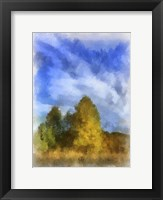 Framed Trees Watercolor Border