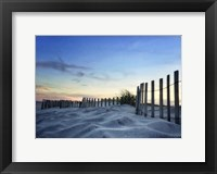 Framed Sand Sunset Fence Border