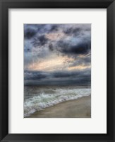 Framed Beach Sunset Watercolor Border