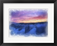 Framed Beach Colors Watercolor