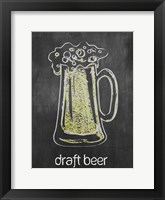 Draft Beer Chalk Framed Print
